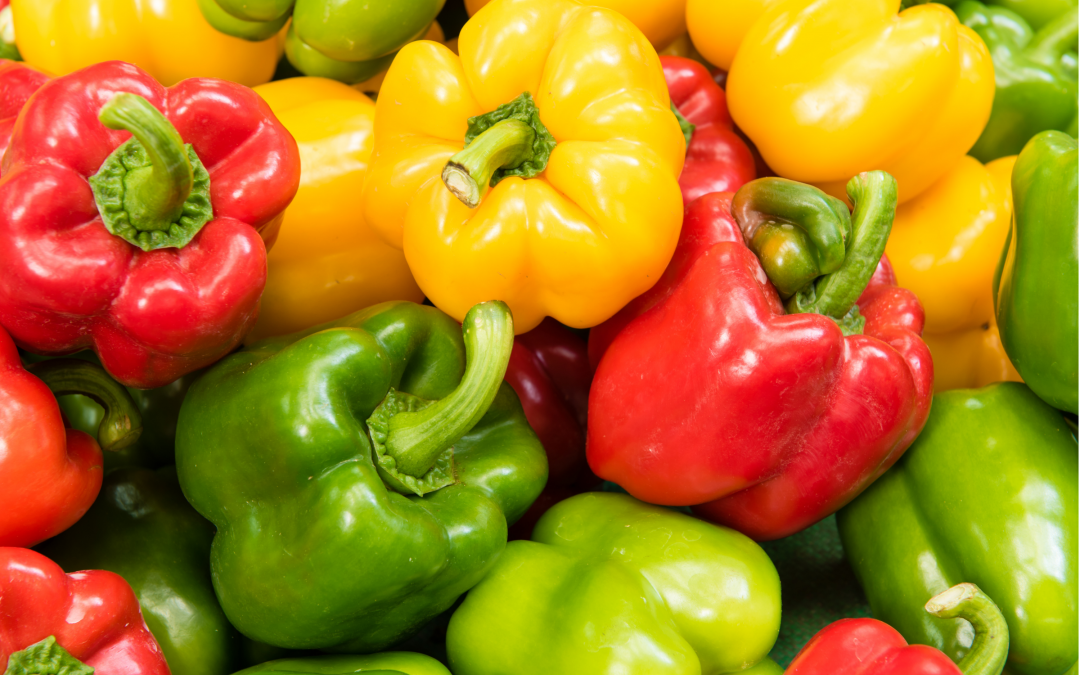 Are green, yellow, and red peppers different or the same?